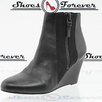 Womens via Spiga Black Leather Wedge Booties/ Boots/ Shoes Sz. 5.5 Photo