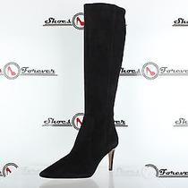 Womens via Spiga Black Suede Knee High Heels Boots Sz. 7 M Photo