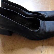 Womens via Spiga Italy Made Black Square Heel Trendy Dressy Shoes Size 8 M Photo