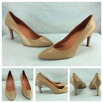 Womens via Spiga New Sexy Nude Leather Pumps Pointy Toe Heels Sz 9.5 198 Photo