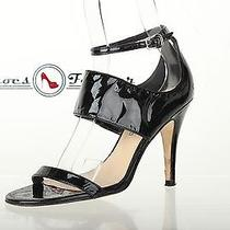 Womens via Spiga Stylish Black Leather Ankle Strap Sandals / Heels Sz. 5.5  Photo
