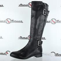 Womens via Spiga Stylish Black Leather Tall Boots W/ Buckles Sz. 7.5 New Photo