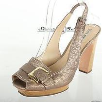 Womens via Spiga Stylish Bronze Leather Sandals Shoes Sz 9.5 M Photo
