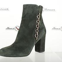 Womens via Spiga Stylish Forest Green Suede Ankle Boots Shoes Sz. 9 M New Photo