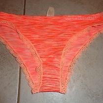 Womens Victoria Secrets Panties Cheekini Orange Size L Photo