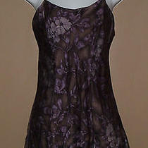 Womens Victorias Secret Small Purple Floral Lingerie Negligee Nightgown Nightie Photo