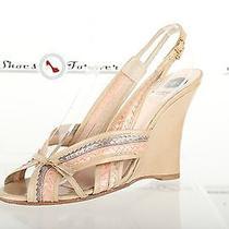 Womens Viktor & Rolf Stylish Beige Leather Wedged Sandals Shoes Sz. 39 Good  Photo