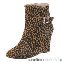 Womens Vince Camuto 7.5 M  Vc-Dena2 Cheetah Ankle Boots 159.00 Photo