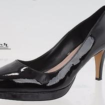 Womens Vince Camuto Black Patent Leather Office Pumps Shoes Sz. 10.5 Photo