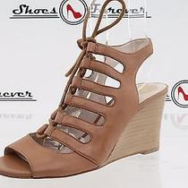 Womens Vince Camuto Brown Leather Gladiator Wedges Sz. 6 B New Photo