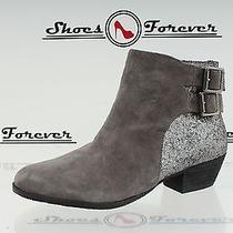 -Womens Vince Camuto Gray/sequins Suede Ankle Boots Sz. 6.5 B Photo
