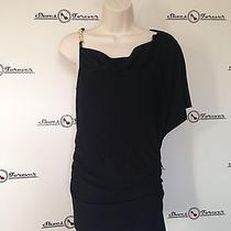 Womens Vince Camuto Stylish Black Mini Dress One Shoulder Sz S 145 Photo