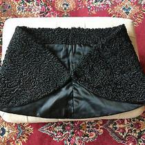 Womens Vintage Black Persian Lamb Wrap Shawl Cape Fur Medium Photo