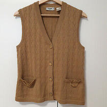 Womens Vintage Celine Paris 100% Wool Sleeveless Sweater Vest Size 40 Photo