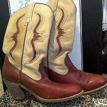 Womens Vintage Frye Cowboy Boots Size 8 Rockabilly Viva Las Vegas Photo