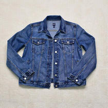 Womens Vintage Gap Blue Denim Jacket Size Small Photo