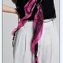 Womens Vogue Style Shining Paillette Embellished Scarf Rose Fashion Hot Cotton Photo