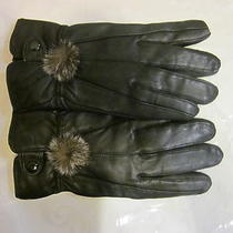 Womens Warm Imitation Leather Gloves Photo