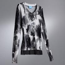 Womens Watercolor Chiffon Cardigan Sweater by Vera Wang Extra Small Xs 64 New Photo