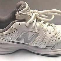Womens White Leather New Balance Sneakers Size 8 New Athletic Tennis Shoes Gray Photo