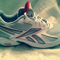 Womens White Reebok Dmx Max Running Shoes Sz 7.5m Avon Breast Cancer Crusade Photo