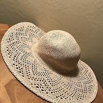 Womens Wide Brim Sun Hat Blush Pink 100% Paper Straw Look Mint Photo