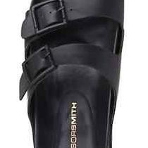 Womens Windsor Smith Birkenstock Black Leather Slides Sandal Size 7.5  Photo