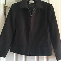 Womens Wool Jacket Coat Bagatelle Brown Zippered Size 8 Photo