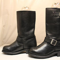 Womens X Element Engineer Motorcycle Leather Black  Motorcycle Boots Size 8.5 M Photo