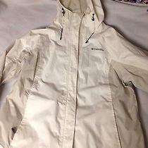 Womens Xl Columbia Rain Jacket Off White Photo