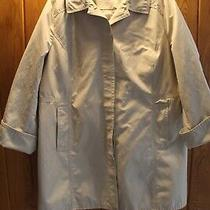 Womens Xl Petite Eddie Bauer Khaki Beige Spring Coat Raincoat Photo