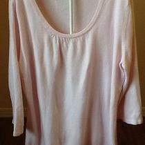 Womens Xl Pink Sweater Luxe 360 3/4 Sleeve Mercer Street Studio Scoop Neck Soft Photo