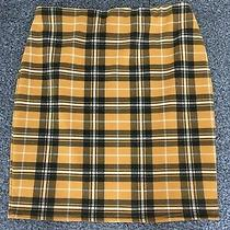 Womens Yellow Check Tube Mini Skirt Size 8 Excellent Condition Photo