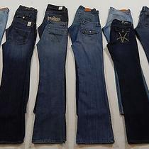 Womens10 Pair Jeans Lot Size 10/30 l32.5