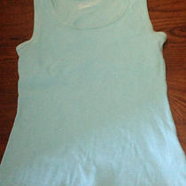 Womenstek Gear Sleeveless Ribbed Scoop Tank W/built in Shelf Bra  Small Aqua  Photo