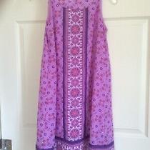 Wonder Nation Girls Fashion Print Dress Size X-Large 14-16 Violet Bloom Lined Photo