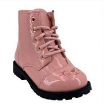 Wonder Nation Girls Kitty Zipper Combat Boots - Pink Patent - Size Us 9 Photo