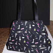 Wonderful Fun Nicole Miller Signature Print Tote-Very Good Condition Photo