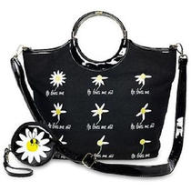 Wonderful Lulu Guinness Natural Daisy Ring Loves Me Not Purse W/ Coin Purse Photo