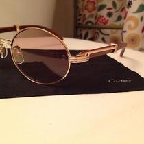 Wood and Gold Cartier Glasses Photo