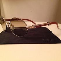 Wood and Silver Cartier Glasses Photo