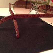 Wood and Silver Cartier Glasses With Aviator Lens Photo