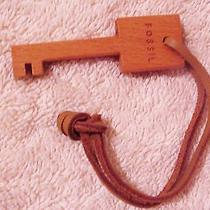 Wood Fossil Key Fob Tag Charm  Photo