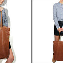 Wood Wood Dk Brown Leather Tote Bag Sold at Goodhood and Opening Ceremony Photo