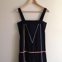 Wood Wood Natalie Wood Black Drop-Waist Tank Dress Ribbon Trim S Small Apc a.p.c Photo
