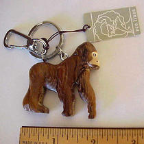 Wooden Natural Wood Gorilla Keychain Original Eco Linea Tag Photo