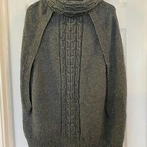 Wool Maternity Sweater Poncho Gray Gap Size Small Photo