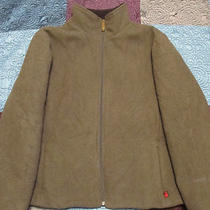Woolrich 100% Wool Women's Xl Quilted Wool Barn Coat Jacket Olive Heather Photo