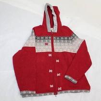 Woolrich Size Xl Womens Hooded Zip Up Lamb's Wool  Sweater Photo