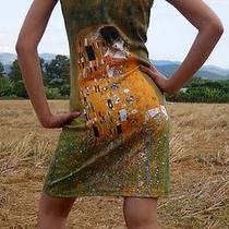 Work of Art Boho Dress Hobo the Kiss by Gustav Klimt L Photo